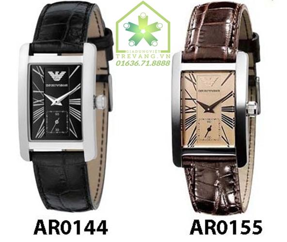 Đồng hồ Armani nữ AR0144 / AR0155 day da màu đen và nâu.