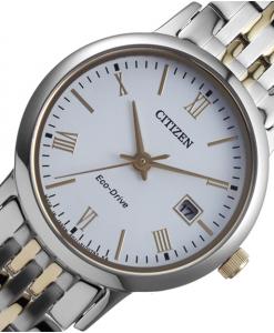 Đồng hồ nữ Citizen EW1584-59A dây kim loại sợi xen kẽ.