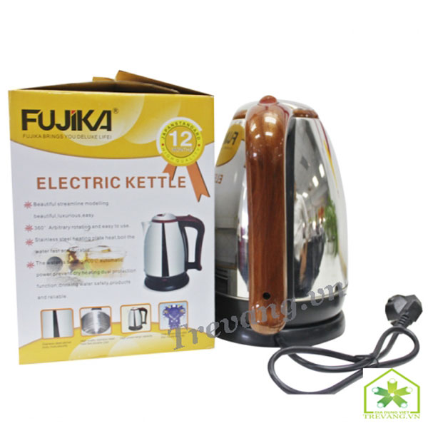 Ấm siêu tốc Fujika 1,8L tay cầm vân gỗ