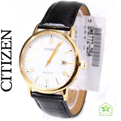 Toàn cảnh đồng hồ Citizen nam BM6772-05A vỏ mạ vàng