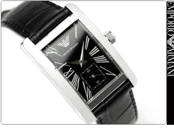 Mặt trước đồng hồ nữ Armani AR0144 dây da đen cao cấp.