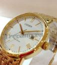 Đồng hồ Citizen BM6772-56A Gold chụp nghiêng