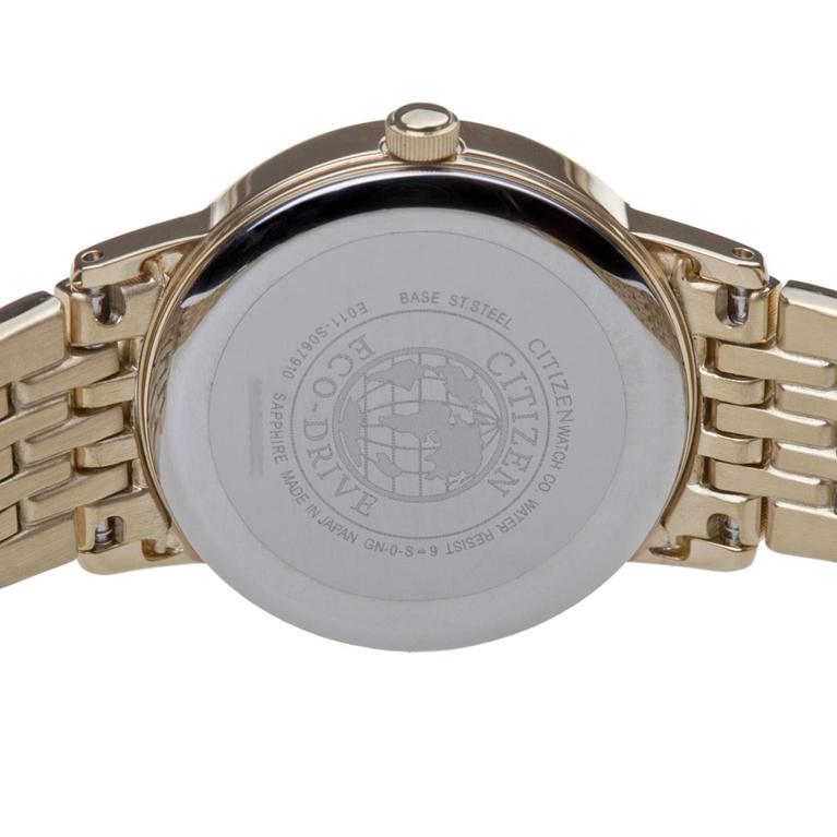 Đồng hồ nam Citizen BM6772-56A Gold mặt sau