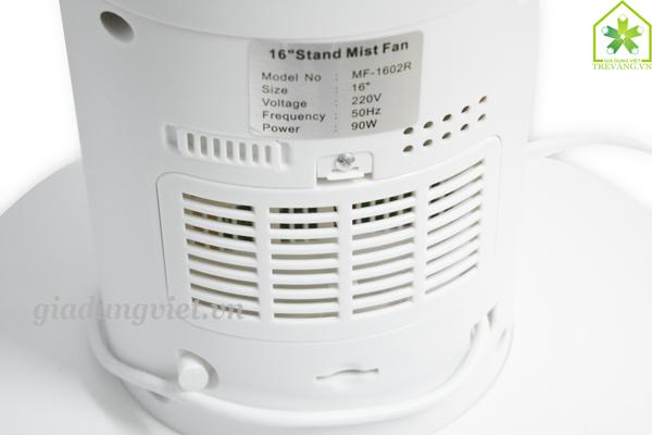 Quạt hơi nước Sanyo MF-1602R thông số kỹ thuật