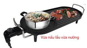 Vừa nấu lẩu vừa nướng Bếp lẩu nướng Shachu DH-638