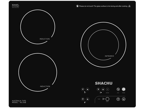 Bộ 3 bếp hồng ngoại Shachu SCH-888 mặt bếp chịu nhiệt