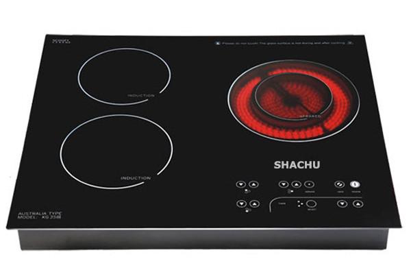 Bộ 3 bếp hồng ngoại Shachu SCH-888 2 bếp điện từ 1 bếp hồng ngoại