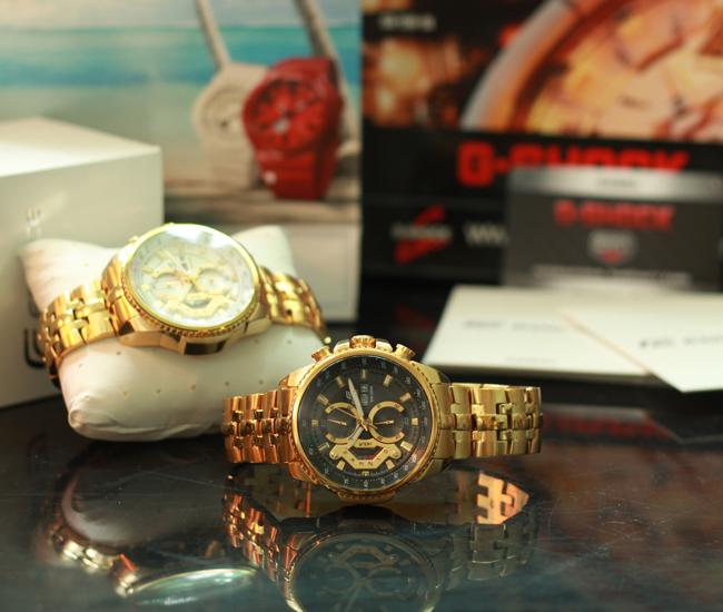 Bộ đôi đồng hồ nam Casio EF 558 SG 7 AV và 558 SG 1 AVDF