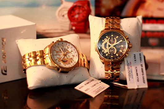Cặp đôi đồng hồ nam Casio EF 558 SG 1 AVDF và Casio FG 7 AV