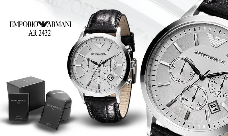 Đồng hồ Armani nam AR2432 dây da cao cấp full box