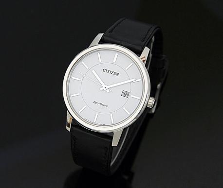 Dây da đen mặt trắng động Đồng hồ nữ Citizen BM6750-08A công nghệ Eco drive