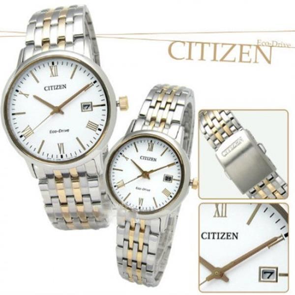 Đồng hồ nam Citizen BM6774-51F Eco-Drive mạ vàng