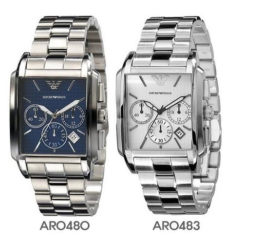 Đồng hồ đôi Armani AR0480 và AR0483 thể thao năng động.