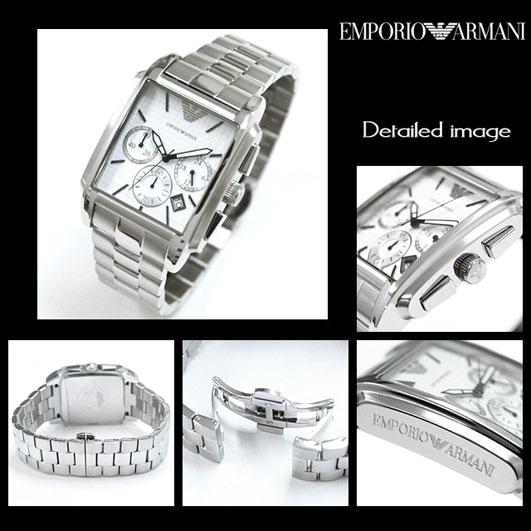 Chi tiết đồng hồ Armani nữ AR0483 mặt trắng.