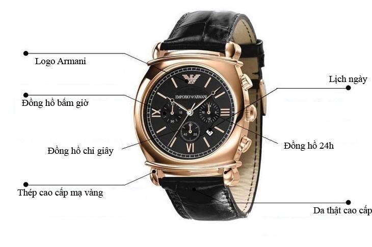 Chức năng từng phần đồng hồ armani nam AR0321