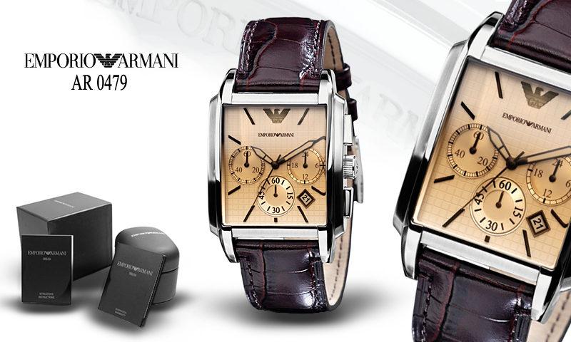 Đồng hồ nam cao cấp ARMANI AR0479 và box cứng sang trọng.