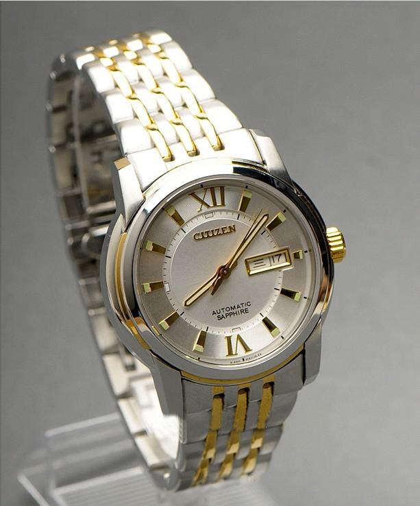 Đồng hồ Citizen Automatic NH8338-GOLD-BLACK mặt trắng