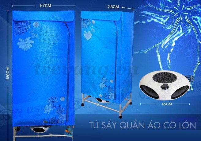 Kích thước Máy sấy quần áo Pusan GY008F3 Hàn Quốc 2 tầng