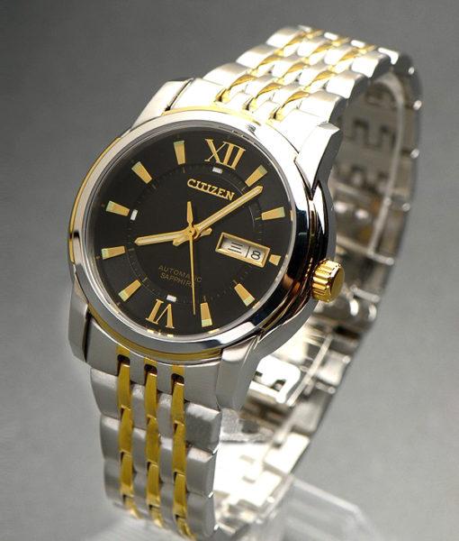 Đồng hồ Citizen Automatic NH8338-GOLD-BLACK mặt đen