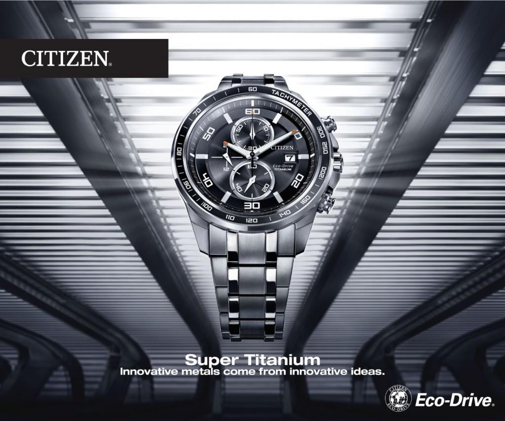 Đồng hồ Citizen nam CA0341-52A/ 52E Super Titanium