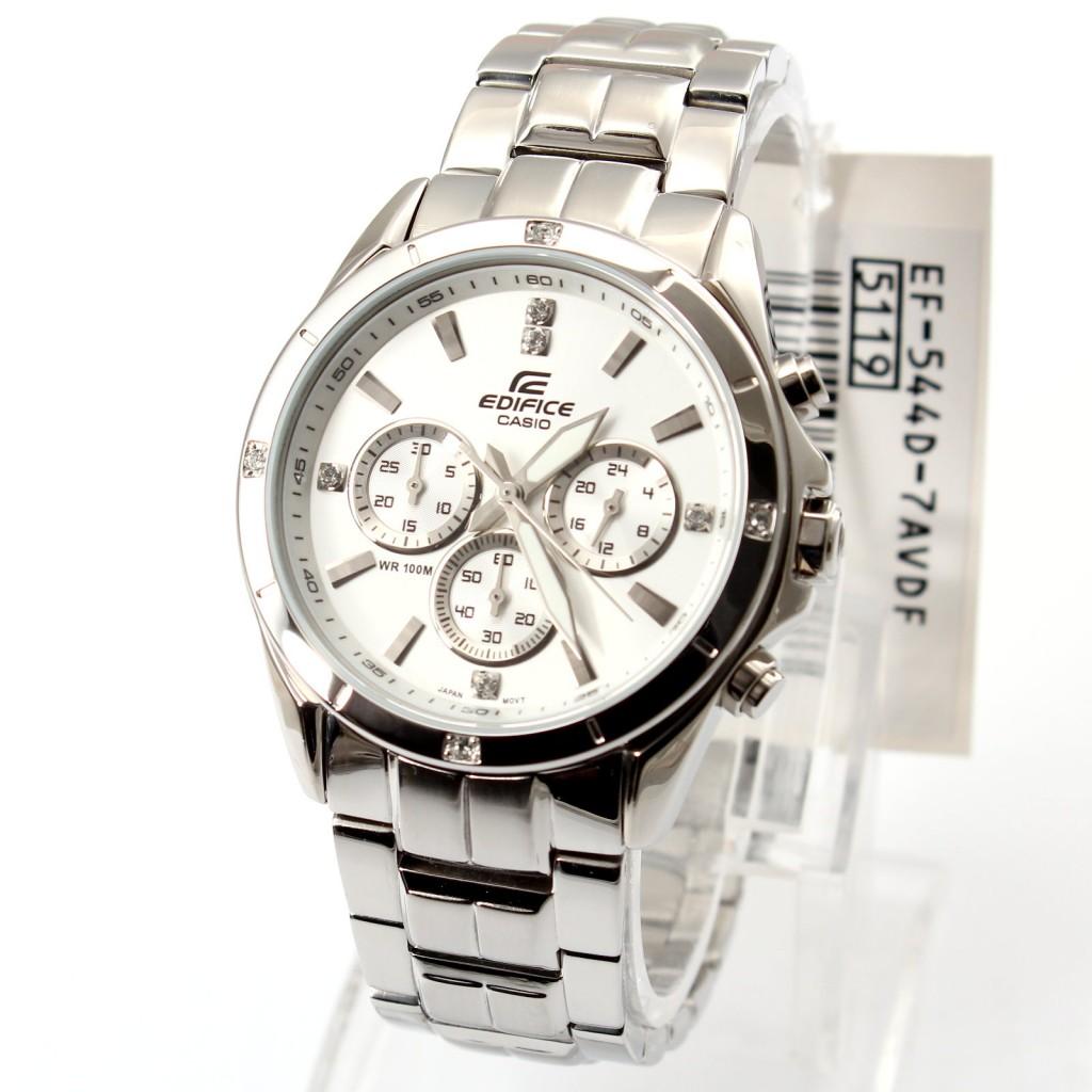 Đồng hồ Casio Nam Edifice EF 544D 7AV màu trắng