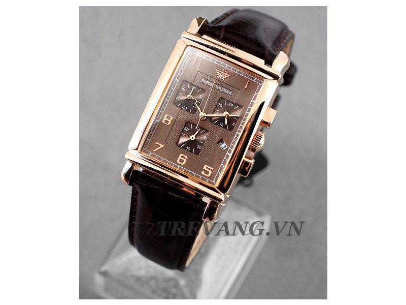 Thiết kế mặt vuông điển hình của thương hiệu đồng hồ Armani