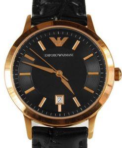 Đồng hồ Armani nữ AR 9022 mạ vàng đồng nổi bật.