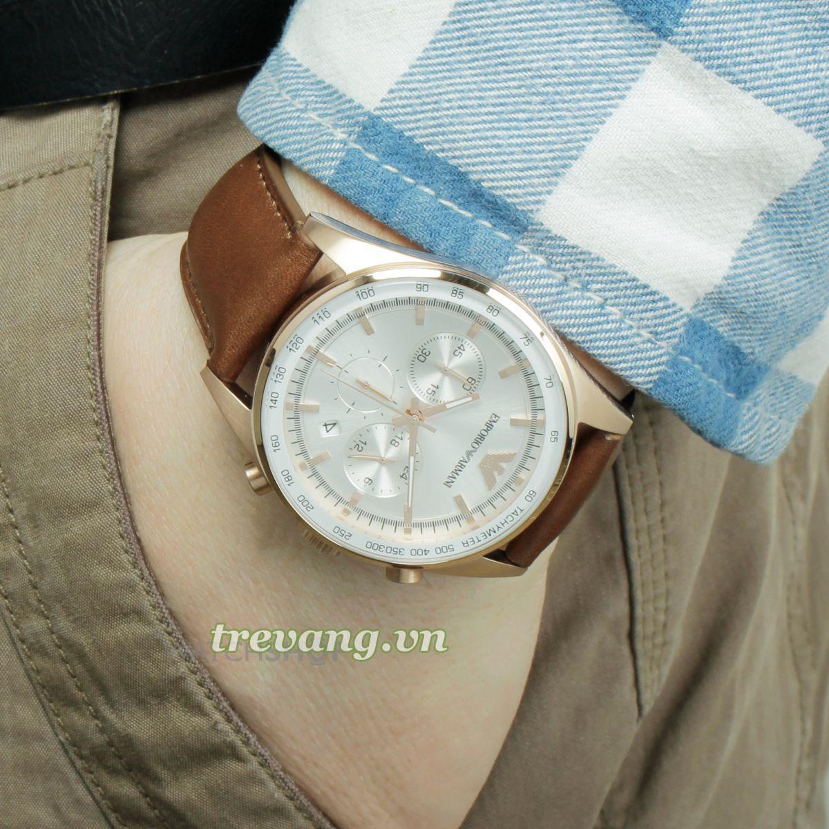 Đồng hồ nam chính hãng ARMANI AR5995 trên tay mẫu ảnh ảnh
