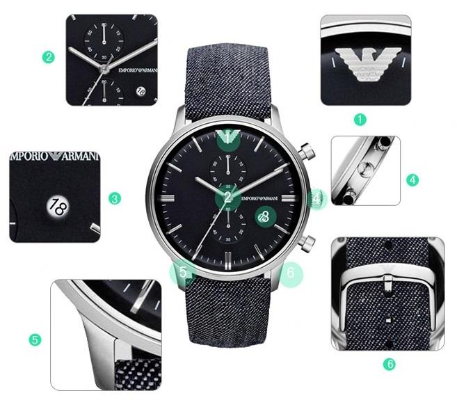 Hình ảnh chi tiết đồng hồ nam AR1690 chính hãng Armani