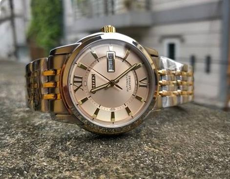 Đồng hồ Citizen nam NH8338-GOLD-BLACK mặt trắng