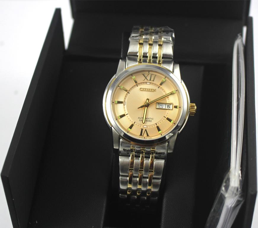 Đồng hồ cơ Citizen Automatic NH8338-GOLD chính hãng full box