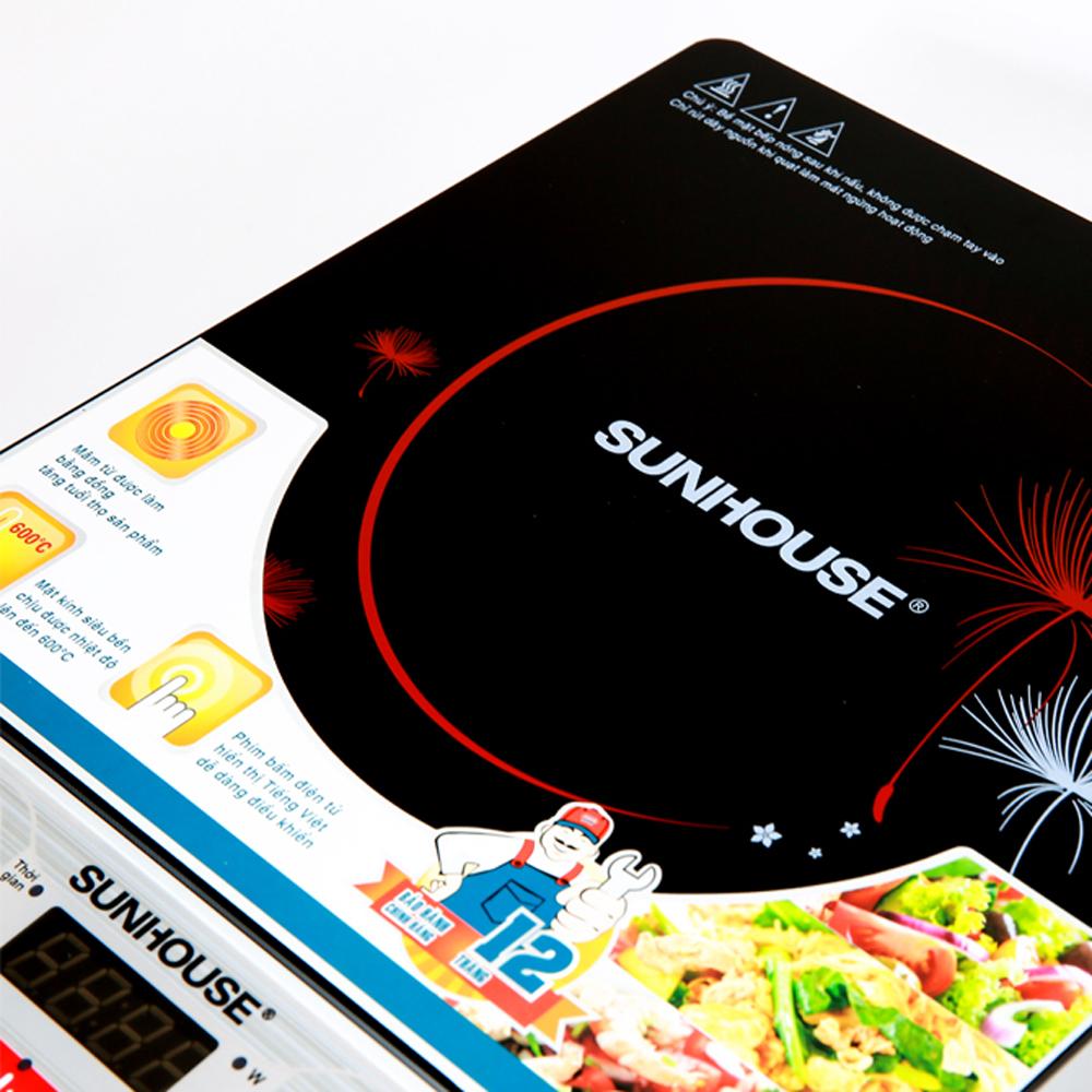 Bếp từ Sunhouse SHD6152 màu đen sang trọng