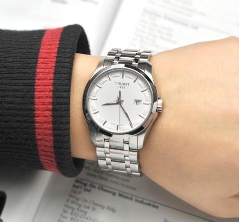 Đồng hồ nam Tissot 1853 T035.410.11.031.00 trên tay mẫu ảnh đẹp