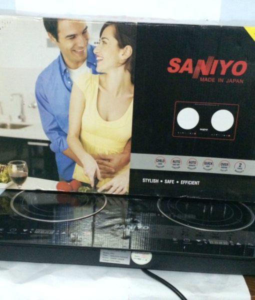 Mô hình bếp hồng ngoại đôi saniyo cảm ứng