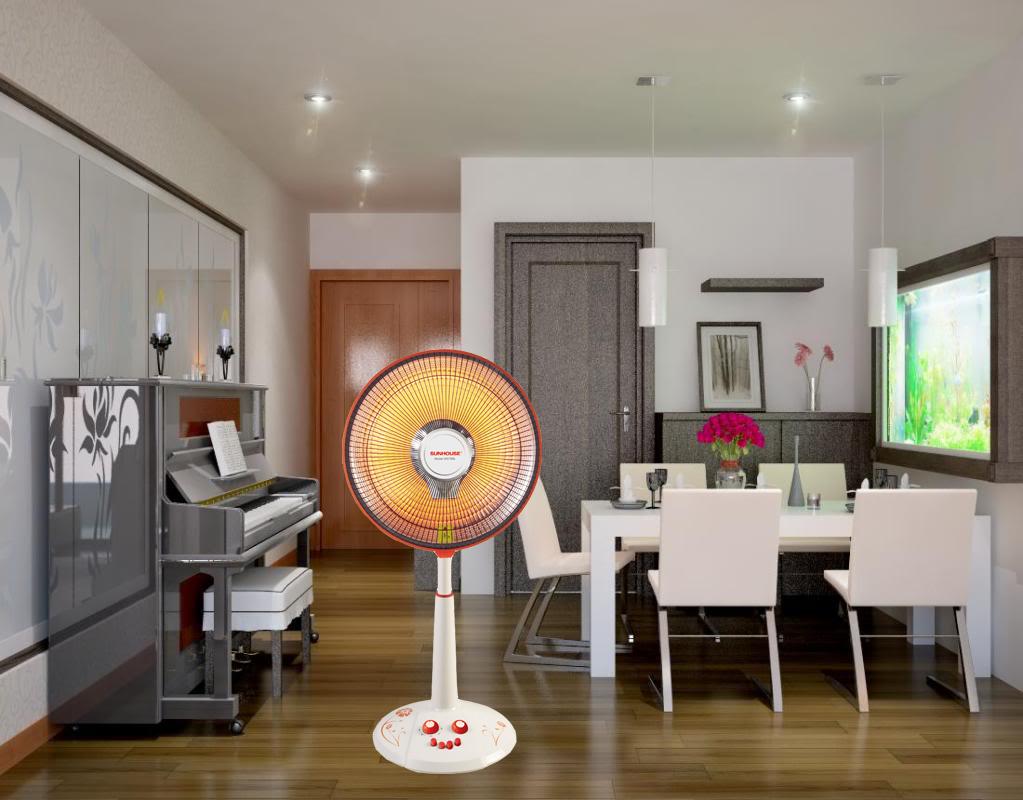 Quạt sưởi sunhouse SHD7006 phòng khách sẽ tiện nghi sang trọng hơn