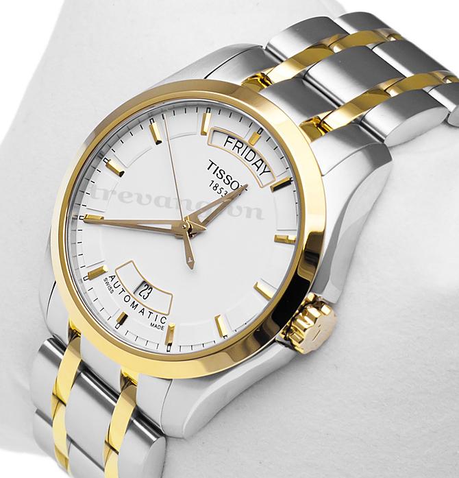 Đồng hồ Tissot T035.407.22.011.00 Quartz T-Trend Couturier đá sapphia.