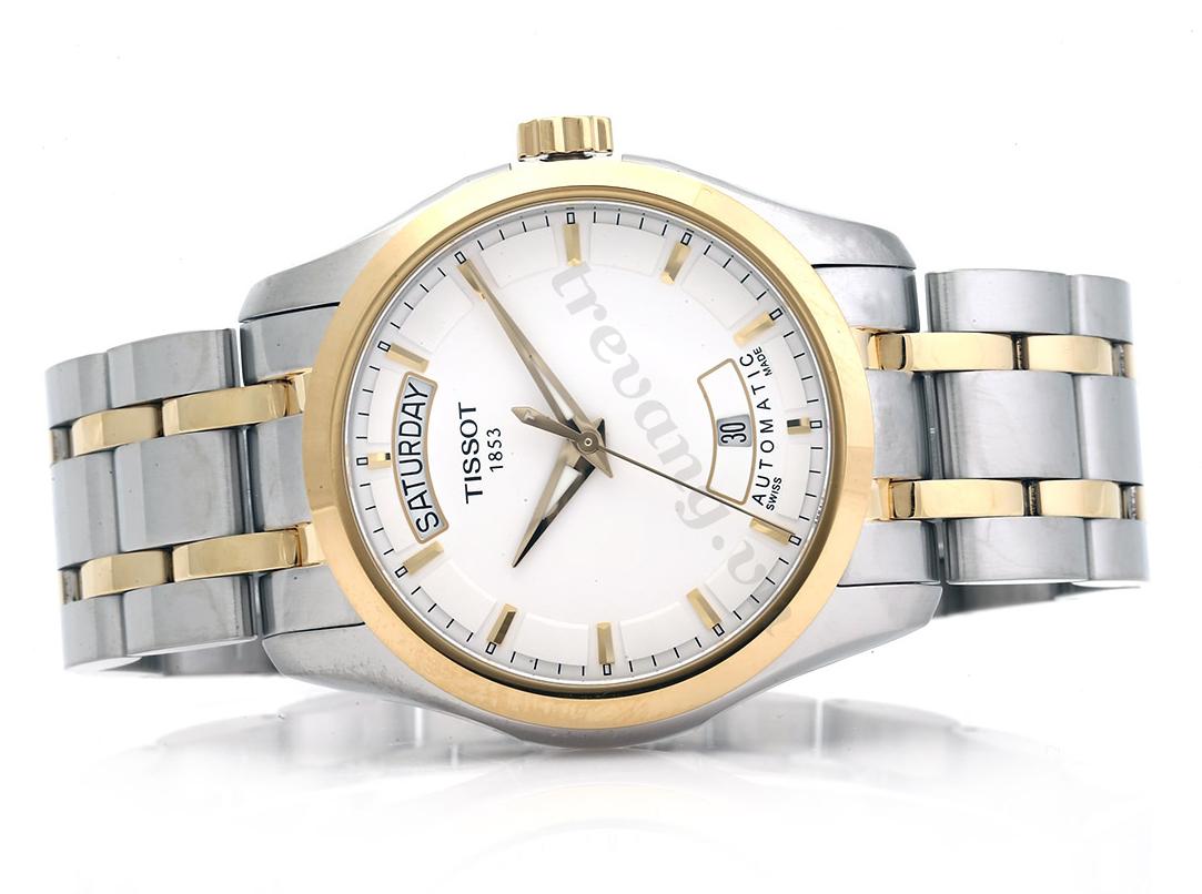 Đồng hồ Tissot T035.407.22.011.00 Quartz T-Trend Couturier mạ vàng cao cấp.
