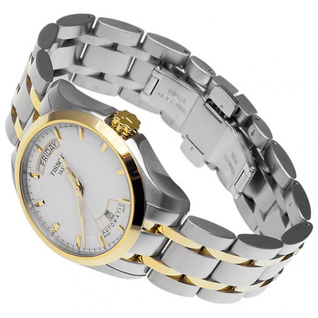 Đồng hồ Tissot T035.407.22.011.00 Quartz T-Trend Couturier chụp xéo