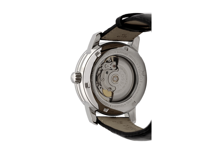 Đồng hồ cơ Tissot 1853 T014.430.16.057.00 mặt sau của đồng hồ