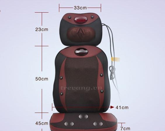 Kích thước ghế massage toàn thân hồng ngoại Shachu Hàn quốc 2014.