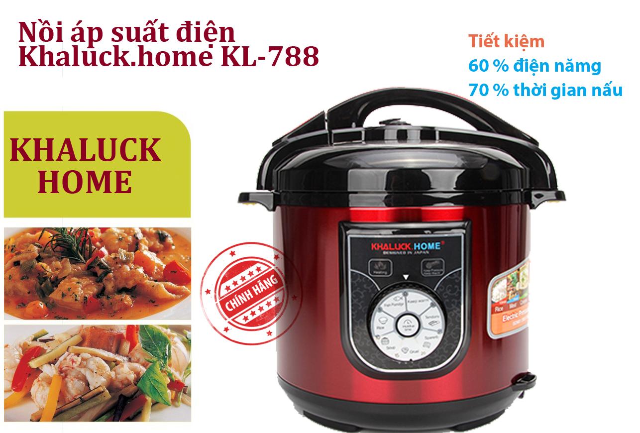 Nồi áp suất điện khaluck kl-788 thiết kế độc đáo, hiện đại