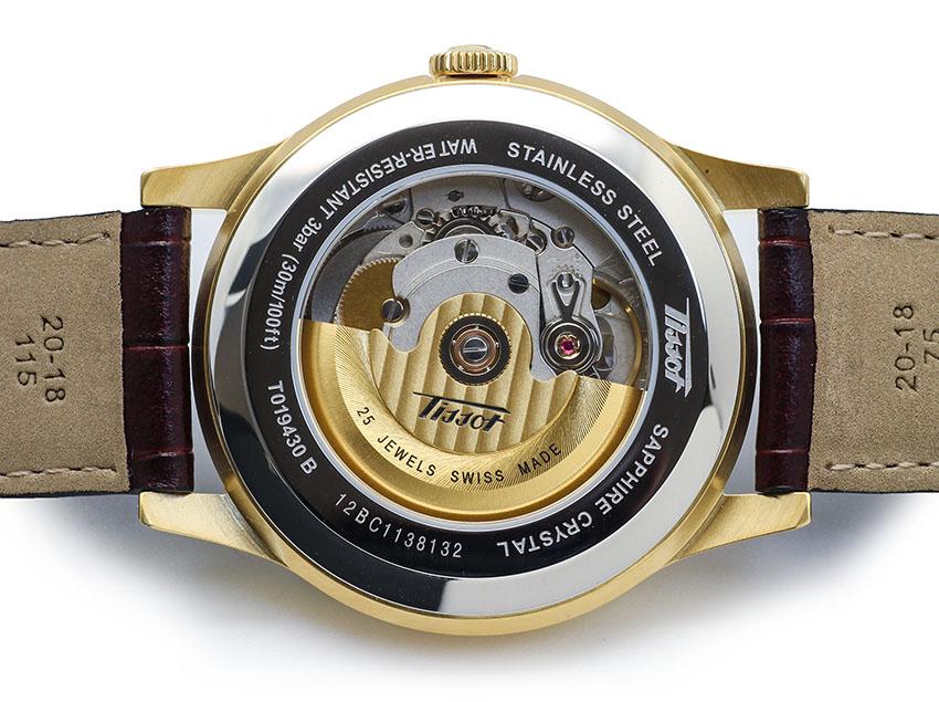 Đồng hồ Tissot 1853 Automatic T019.430.36.051.01 thiết kế mặt sau lộ cơ
