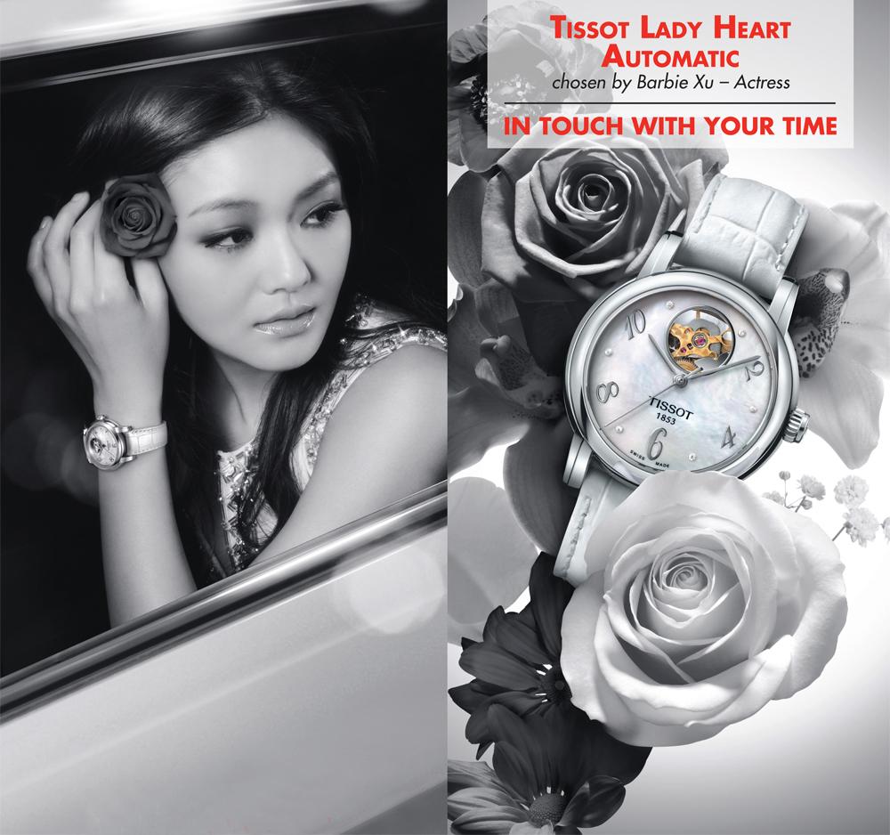 Đồng hồ đôi Tissot T52.2.481.31 và T52.2.281.31 trên tay hoa ngữ