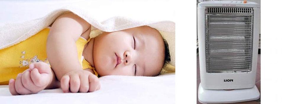 Bé ngủ ngon quạt sưởi ấm Lion Q10A
