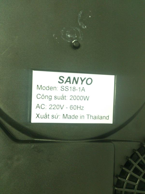 Thông số Bếp từ Sanyo SS18-1A
