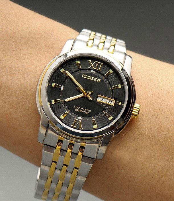 Đồng hồ Citizen nam NH8338 Balck Gold mặt đen