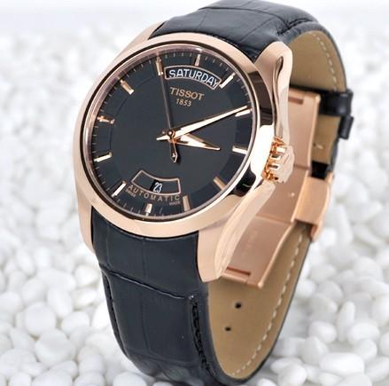 Đồng hồ cơ nam Tissot 1853 T035.407.36.051.00 dây da cao cấp.