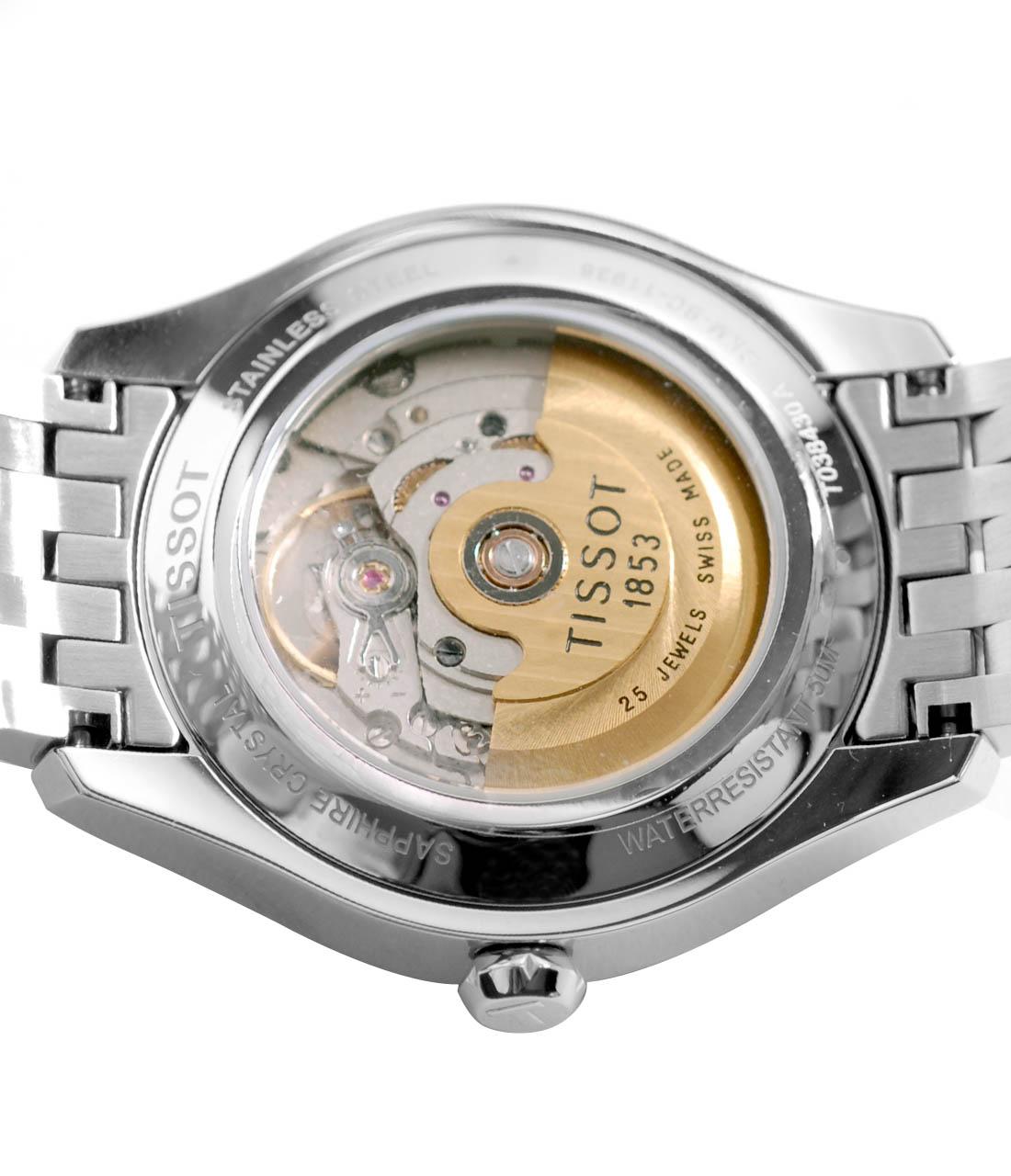 Mặt lưng Đồng hồ cơ nam Tissot 1853 T038.207.22.037.00