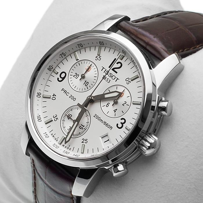 Đồng hồ cơ nam Tissot 1853 T17.1.516.32 PRC 200 với 3 mặt phụ.
