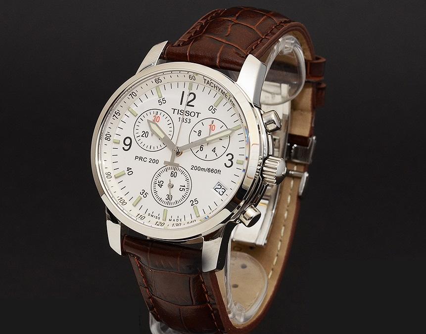 Đồng hồ cơ nam Tissot 1853 T17.1.516.32 dây đeo da thuộc nâu.